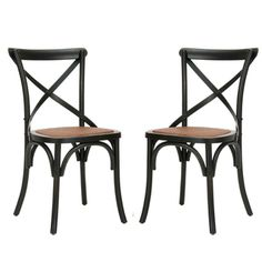 Safavieh Classical Bradford X Back Antiqued Black Side Chairs (Set of 2) | Overstock.com Shopping - The Best Deals on Dining Chairs