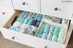 Nursery Organization Ideas-  How to Organize Baby Clothes in a Dresser