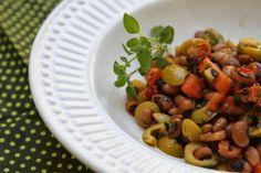 Salada de Feijão Fradinho, Coentro e Bacon