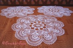Amazing White Crochet Doilies with PATTERN