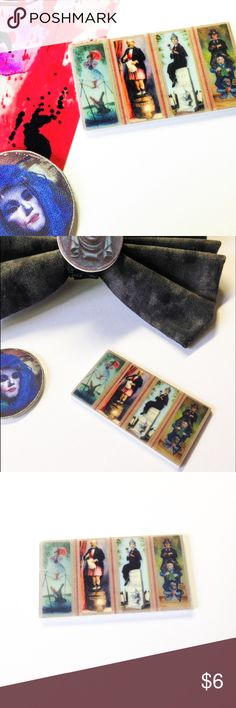 """🆕 Haunted Mansion Portrait Brooch ***All brooches are 3 for $15, create a bundle and offer $15 - I will accept as soon as I see it, thank you! (Offer applies to all brooches in my closet - mix and match)***  Handmade brooch with a Haunted Mansion portrait charm.  We offer 15% off on all bundles. You can """"Add to Bundle"""" to get discount.  Most items listed are ready to ship but if you need something sooner please let us know before ordering. Artwork shown is by SpooksieBoo .  Thank you for…"""
