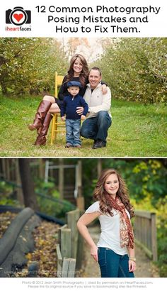 12 Common Photography Posing Mistakes and How to Fix Them. iHeartFaces.com