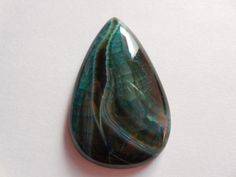 Beautiful Green and Turquoise  Cracked Agate Druzy Stone -Pear druzy cabochons Polished both side Size 45x29 mm Beautiful item. by Gemstonebeadsfinding on Etsy