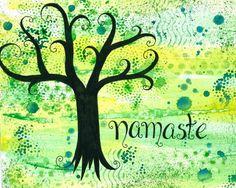 Namaste 8x10 Art Print by ladylyn on Etsy