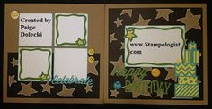 Paige Dolecki - Stampologist: Artbooking in August - Fast and Easy Stash Busting Birthday Layout