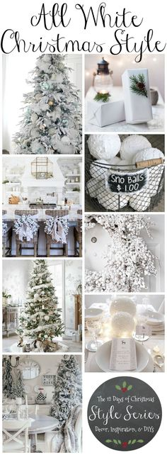 Gorgeous All White Christmas Decor! all-white-christmas-style-winter-wonderland-all-white-christmas-decor-inspiration-and-diys Decoration Christmas, Noel Christmas, Christmas Fashion, Rustic Christmas, Xmas Decorations, Christmas Themes, Winter Christmas, Christmas Crafts, White Christmas Trees