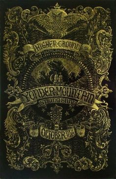 Original silkscreen concert poster for Yonder Mountain String Band at Higher Ground in Burlington Vermont in 2010. 14 x 22 inches on card stock. NM condition