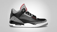 e32cb24667452 Air Jordan Retro 3 Black Cement. Jordan 3 Black Cement
