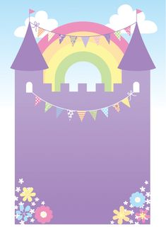 Purple Castle - Free Printable Birthday Invitation Template | Greetings Island