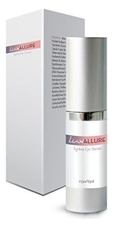 LUX Allure Ageless Eye Serum Premium Under Eye Treatment Advanced AntiAging Formula Restores Hydration and Youthful Glow to Skin 5 ounce *** Read more reviews of the product by visiting the link on the image.