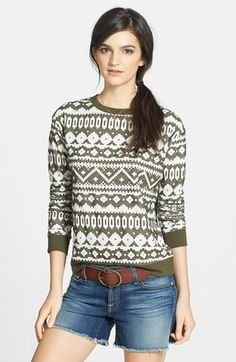 Hinge® Textured Pattern Pullover available at #Nordstrom