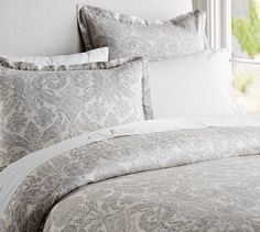 Samantha Damask Duvet Cover & Sham - Smoke Gray Maybe for your bedroom?  http://www.potterybarn.com/products/samantha-damask-organic-cotton-duvet-cover-sham-smoke/?pkey=cduvet-covers-shams&cm_src=duvet-covers-shams||NoFacet-_-NoFacet-_--_-