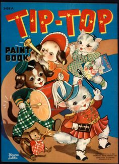 """Tip-Top Paint Book"" illus. by Florence Salter. Merrill 1941 