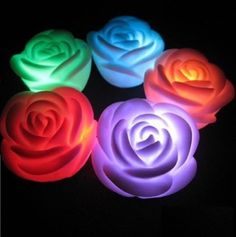 Set of 12 Floating LED Candles,DLAND Colour Changing Mood Tea Lights Waterproof Cool White Wedding Holiday Christmas Xmas Party Decoration Floral Flameless Flameless Candles, Led Candles, Floating Candle, Christmas Holidays, Christmas Decorations, Romantic Roses, Romantic Mood, Great Valentines Day Gifts, Roses