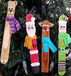 ❤ Jégkrém pálcika figurák - karácsonyfadíszek ❤Mindy -  kreatív ötletek és dekorációk minden napra