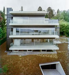 """Search Results for """"Ansicht"""" Green Architecture, Residential Architecture, Architecture Design, Style At Home, Condo Design, House Design, Temporary Architecture, Modern Townhouse, Concrete Houses"""
