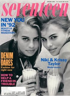 My friend Nickie and I would always look through magazines with Nikki and Krissy.  We LOVED the photo session in this mag!