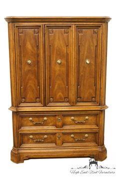 DREXEL Marchesa Collection Italian Neoclassical Door Chest / Armoire - High End Used Furniture Long Driveways, Large Truck, Faux Bamboo, Neoclassical, Marchesa, How To Be Outgoing, End Tables, Flooring, Mesas