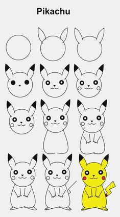Pikachu step by step tutorial pikachu StepbyStep tutorial - #easydrawings Easy Butterfly Drawing, Easy Flower Drawings, Easy Disney Drawings, Easy Doodles Drawings, Easy Cartoon Drawings, Simple Doodles, Pikachu Drawing Easy, Marvel Drawings, Art Drawings