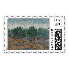 Olive Grove by Vincent Van Gogh Stamp
