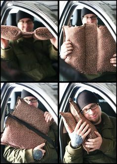 Make the ultimate road trip pillow. | 30 Insanely Easy Ways To Make Your Road Trip Awesome