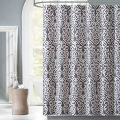 Madison Park Aubrey Jacquard Shower Curtain