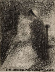 Georges Seurat   La nourrice 1881-1882 Crayon Conté