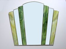 Art Deco Fantail Stained Glass Hand Made Mirror x Exterior Design, Interior And Exterior, Stained Glass Mirror, Slumped Glass, Art Deco Furniture, Mirrors, Glass Art, Copper, Bathroom