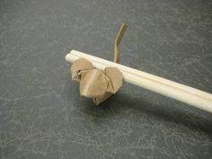 1:3.5の比率の箸袋で折るネズミ 創作/山田勝久 箸袋でねずみの折り紙の折り方動画 創作 【創作折り紙の折り方・・・】