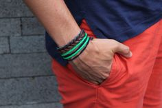 Quebramar shorts, Ralph Lauren Polo, Massimo Dutti bracelet and another bracelet made by me.    by Filipe Aguiar via Male Trends