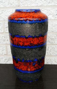 Scheurich Fat Lava Keramik Vase * 517-38 * 1959