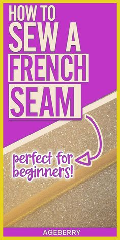 Learn how to sew a french seam with this video sewing tutorial on french seams in 5 easy steps with detailed instructions.Very useful sewing techniques for beginners and advanced sewers especially if you sew with silk fabric. Sewing Basics, Sewing Hacks, Sewing Tutorials, Sewing Tips, Dress Tutorials, Sewing Classes For Beginners, Sewing Elastic, Elastic Waist, Small Sewing Projects