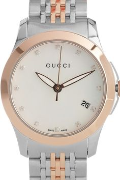 Gucci  Rose gold, mother-of-pearl and diamond watch