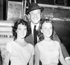 Gene Kelly with his daughter, Kerry (left) and 2nd wife, Jeanne Coyne (right).