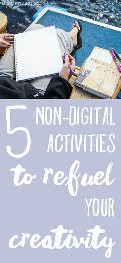 5 no digital Actividades para repostar su creatividad |