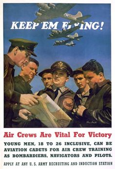 US Army Air Force recruiting poster, WWII