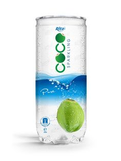 Whosale private label OEM Pure Sparkling Coconut Water