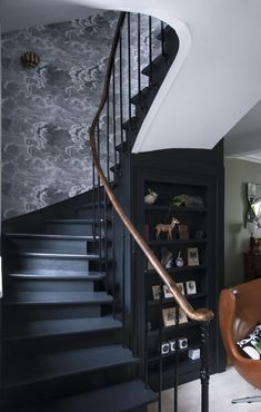Trendy home architecture design ideas stairs Entry Stairs, House Stairs, Door Design, House Design, Gate Design, Stair Makeover, Stair Handrail, Handrail Ideas, Dark Interiors
