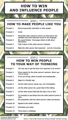 how-to-win-and-influence-people-infographic.png (1369×2421)