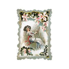 Swinging Woman myspace background ❤ liked on Polyvore featuring victorian, backgrounds, people, vintage and decoration