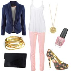 I looove this look. I really want some blush colored pants for spring!