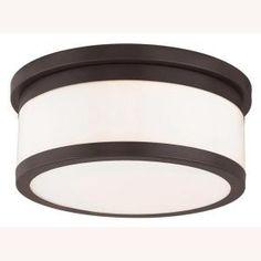 Livex Lighting Stafford 3-Light Bronze Flushmount-65503-07 - The Home Depot