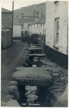 MOUSEHOLE: 'The Millpool - the stream is now piped and covered in.'     ✫ღ⊰n