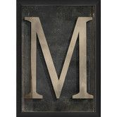 Found it at Wayfair - Letter M Framed Textual Art in Black and Gray