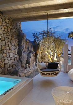 Almost a hammock :) Kensho Boutique Hotel and Suites Ornos, Mykonos. Greece