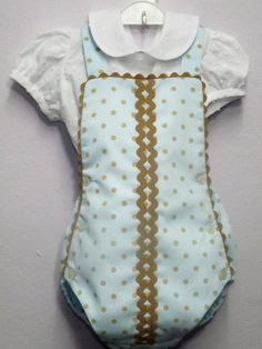 Ranita para bebe camisa plumeti blanca y piqué celeste 2f19d6a59e68