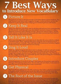 7 best ways to introduce vocabulary