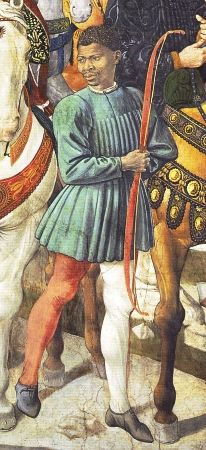 Benozzo Gozzoli, the Journey of the Magii frescoes in Florence, detail, 15th century