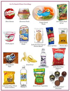 Healthy snack products: Babybell cheese,Sabra humus packs,Chobani Greek yogurt,planters sleeve of nuts,Kashi protein bar,hard-boiled eggs,fresh fruit,Water,healthy individual popcorn bags,Wheat thins...ect