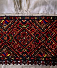 , from Iryna Pisanki inspiration Embroidery On Clothes, Folk Embroidery, Learn Embroidery, Cross Stitch Embroidery, Embroidery Patterns, Cross Stitch Patterns, Machine Embroidery, Palestinian Embroidery, Antique Quilts